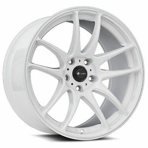 Vors Tr4 18x9 5 5x114 3 35 White Wheels 4 73 1 18 Inch Rims