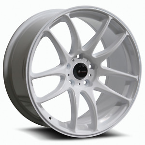 Vors Tr4 18x8 5 5x114 3 35 White Wheels 4 73 1 18 Inch Rims