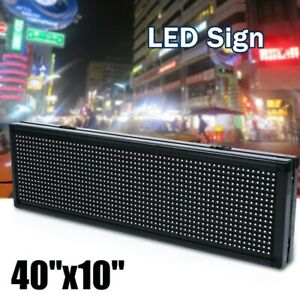 40 X10 Full Color Programmable Indoor Led Sign Display Images Animations Text
