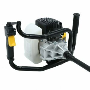 52cc 2 85hp Earth Auger Powerhead 1 Man Gas Powered Post Hole Digger Machine Us