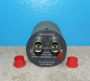 General Radio 1403 d Standard Air Capacitor 100pf 0 1 Free Shipping