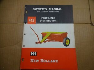 New Holland 412 Fertilizer Distributor Owners Operators Assembly Manual 4 64