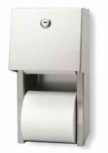 Industrial Toilet Paper Dispenser Covered Two roll Metal Georgia pacific 57893
