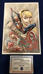 Amazing Spider Man 50th Anniversary Litho Signed by Stan Lee with COA amp; Campbell $279.95