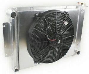 For Chevy Camaro Pontiac Firebird V8 1967 1968 1969 Shroud Fan Radiator 3 Row