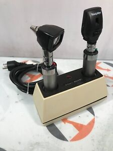 Welch Allyn 71110 Desktop Diagnostic Set Otoscope 25020 Ophthalmoscope 11710