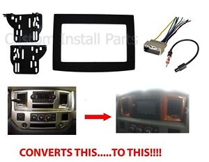 Aftermarket 2din Double Din Stereo Radio Install Complete Dash Kit Trim Adapter