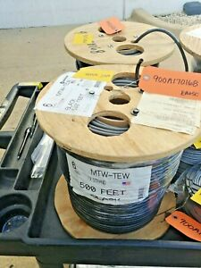 Wire Copper 6wg Mtw tew Stranded Black 500ft Spool And 450ft Spool