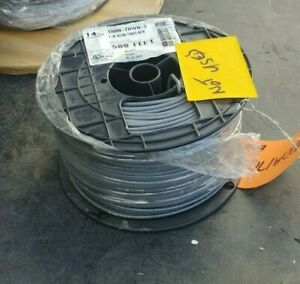Wire Copper 14awg Mtw tew Stranded Black 500ft Spool X 2