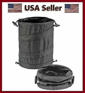 Wastebasket Trash Can Litter Container Car Auto Rv Pop Up Garbage Bin Bag