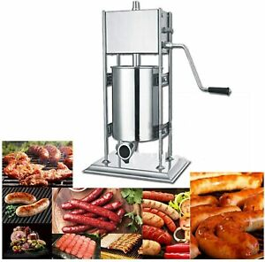 Commercial Sausage Stuffer Stainless Steel Vertical Manual Meat Filler 15l 33lbs