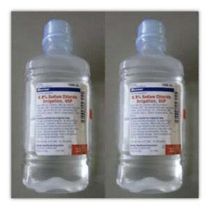 2pk Baxter Sodium Chloride For Irrigation 1000ml Free Shipping