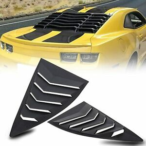 Side Window Louvers For Chevy Camaro 2010 2015 Windshield Cover Sun Shade Vent