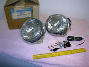 Nos 1940 S 1950 S Unity Driving Lights Chrome Nib Marked 1973 11 20