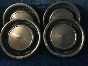 4 Four 16 Vintage Oldsmobile Hubcaps Fast Free Shipping