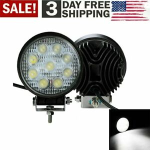 27w Led Round Work Light Spotlight Off Road Driving Fog Lamp Truck Boat 5inch