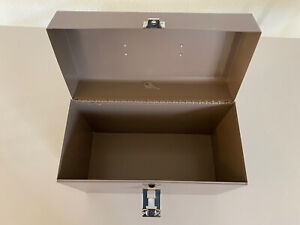 Vintage Metal File Box With Key
