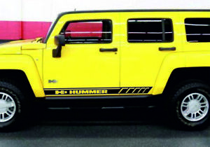 Hummer H3 2pcs Side Stripes Body Decals Racing Graphics Vinyl Sticker Quality