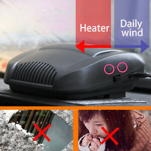 Car Truck Portable Auto Heater Heating Cooling Fan Defroster Demister Black Usa