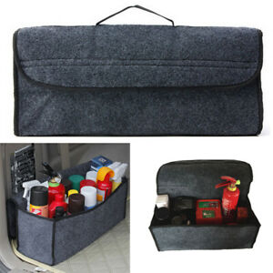 Large Car Trunk Storage Travel Bag Woolen Felt Organizer Box Cargo Tidy Foldable