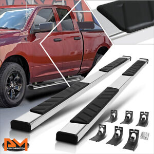 For 09 20 Dodge Ram 1500 3500 Ext Cab 5 Step Pad Nerf Bar Running Boards Silver