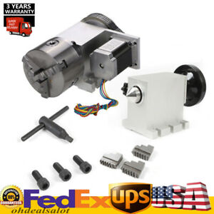 4th A Axis 57 Stepper Motor 3 Jaw 100mm Chuck Cnc Milll Machine Hotsale
