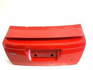 2006 Saturn Ion 2dr Trunklid W Spoiler Red In Color Oem Used