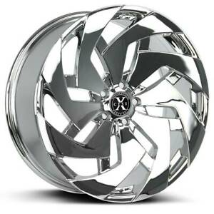 Xcess X04 26x10 6x5 5 6x139 7 26 Chrome Wheels 4 78 1 26 Inch Rims