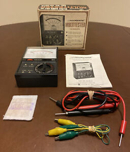Micronta 22 201a Multimeter Nos Tested Working Instructions Box Leads