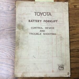 Toyota Battery Forklift Control Device Troubleshooting Service Repair Manual