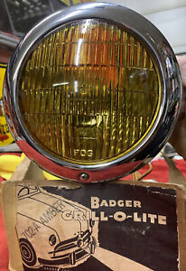 Nos 1949 1950 Ford Accessory Badger Grill O Lite Bullet Center Fog Light Vtg Og