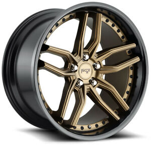 Niche M195 Methos 20x9 20x10 5x120 35 45 Bronze Black Wheels 4 72 56 20 Inch S