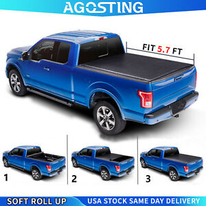 Roll Up 5 7ft Tonneau Cover For 2009 2018 Dodge Ram 1500 2011 2018 Ram 2500 Bed