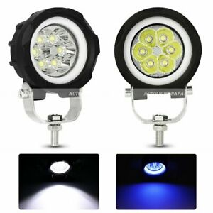 2x 3inch Led Work Light Bar Spot Pods Halo Driving Fog Off Road Truck Atv Suv