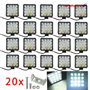 20x Led Work Light Flood Light Off Road Driving Suv Boat Tractor spot 48w 12v