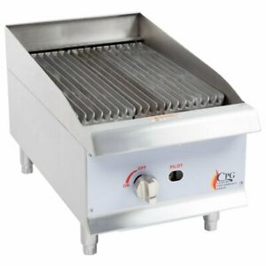 Restaurant Commercial 15 Gas Grill Countertop Radiant Charbroiler 40 000 Btu