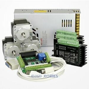 3 Axis Cnc Controller Kit Nema23 Stepper Motor 175 Oz in M335 Motor Driver 3 5a