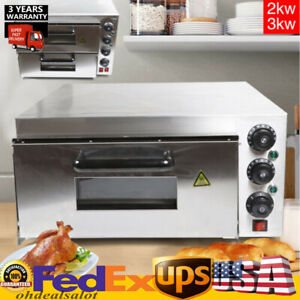 Pizza Oven 1 Deck Electric Stainless Steel Ceramic Commercial Oven Tool Hotsale