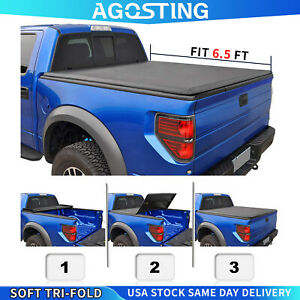6 5ft Tonneau Cover For 2004 2020 Nissan Titan Soft Tri Fold Truck Bed