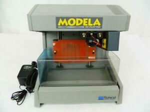 Roland Modela 3d Plotter Mdx 3 W Box Very Good Condition