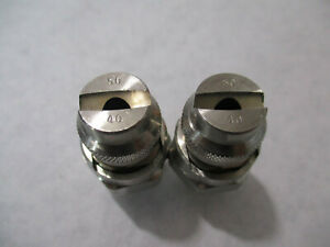 Lot Of 2 Nnb Spraying Systems Inc Qjja ss 50 40 Stainless Spray Nozzles 1 4