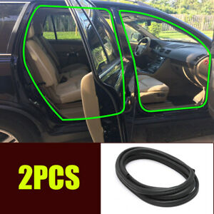 Car Door Edge Weatherstrip Rubber Soundproof Sealing Strip B Pillar Front Rear