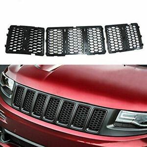 Mesh Grille Insert Kit Front Grill Cover Black For Jeep Grand Cherokee 2014 2016