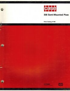 Case Vintage 308 Semi mounted Plow Parts Manual A1365