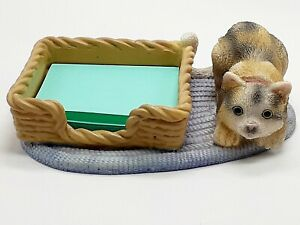 Cat Playing On Rug Post It Note Holder House Pets Holds Sticky Notes