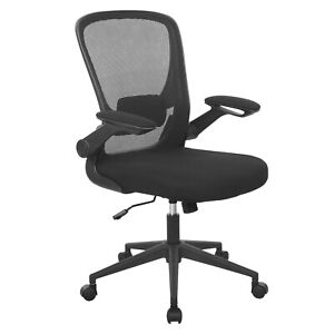 Office Chair Desk Chair Computer Chair With Lumbar Support Flip up Arms Swivel