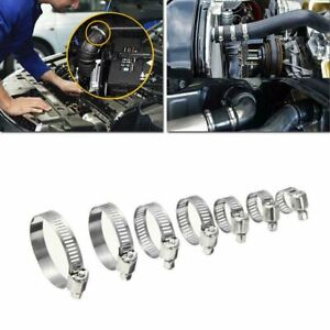 304 Stainless Steel Hose Clamp 60 Piece Assortment Set Automotive Metal Clamps