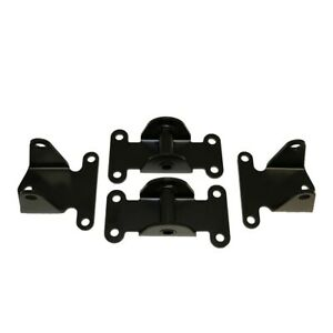 Small Block Chevy Black Solid Engine Motor Frame Mount Combo Rat Rod Hot Street