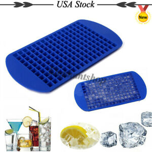 160 Grids Small Ice Cube Frozen Maker Mold Silicone Trays Cold Drink Helper Ca