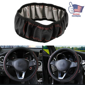 Car Steering Wheel Cover Leather Black Red For Honda Odyssey Pilot Accord Jeep